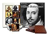 DA CHOCOLATE Cute Candy WILLIAM SHAKESPEARE QUOTES Chocolate Gift Set 5x5in 1 box (Black&White Prime)
