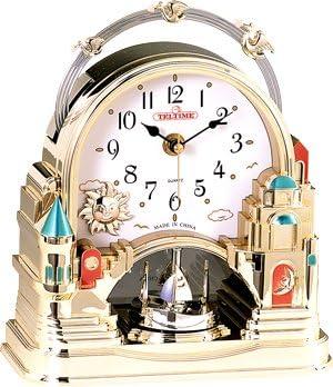 Castle Golden tone Motion Clock