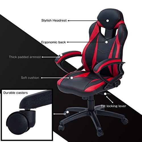 Merax Style PU Leather Gaming Chair for Office