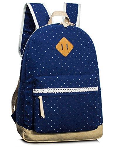 c2dc846cf15e Leaper Cute Canvas Laptop Backpack for girls School Bag Shoulder Bag Travel  Bag