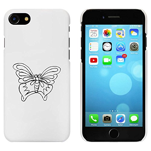 Blanc 'Beau Papillon' étui / housse pour iPhone 7 (MC00075596)