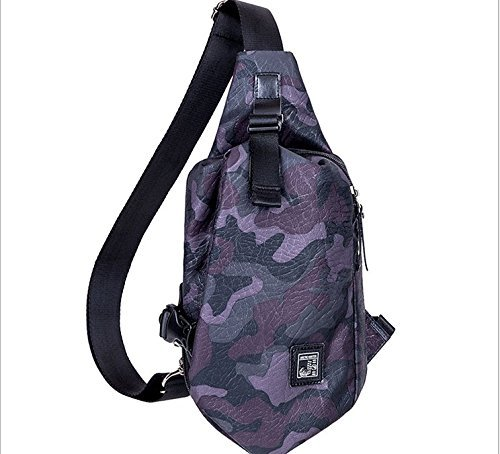 Multipurpose Daypack Hiking Chest Shoulder Bag and Hiking Backpack for Men and Boys Teens [並行輸入品]   B0788B5415