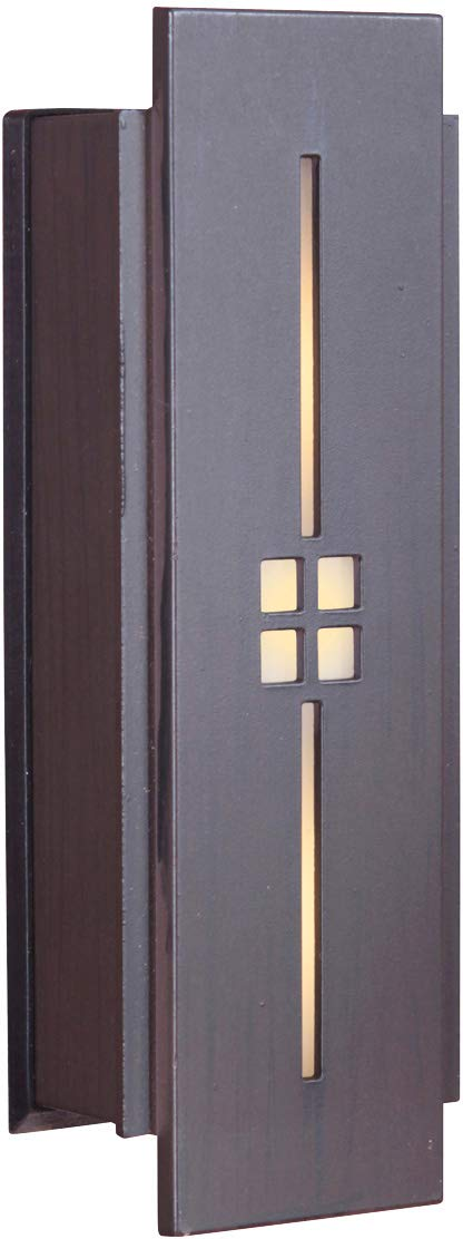 Craftmade TB1030-AI Tiered Mission Lighted Doorbell LED Touch Button, Aged Iron (5''H x 1.75''W)