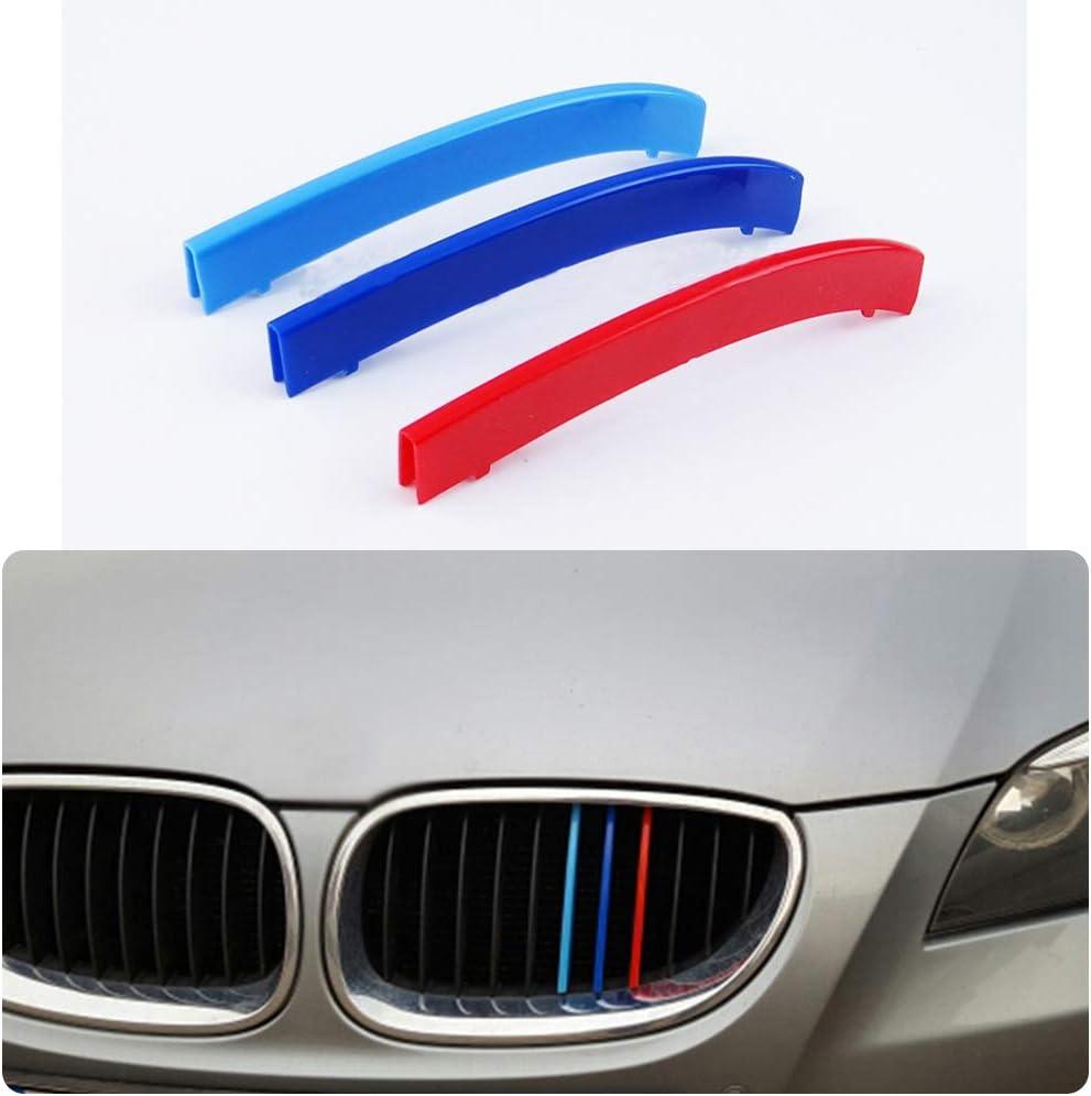 para 04-10 5 Serie E60 3 Colors M Styling Front Grille Trim Strips Cover Stickers 3 Piezas 11 cuadr/ículas