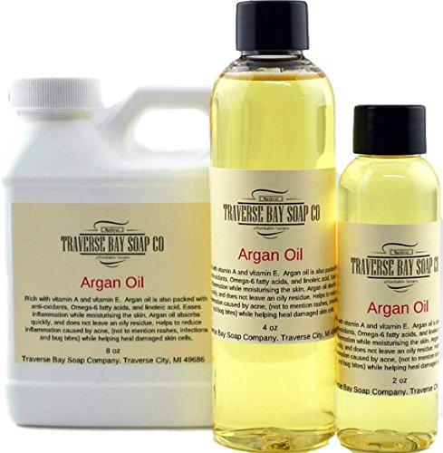 Argan Oil 8 oz, Safety sealed container, Soap making, lotion, creams, massage oil, bath, beauty, lip balm