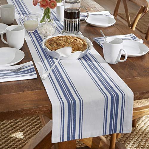 Elrene Home Fashions Farmhouse Living Homestead Stripe Table Runner, 13
