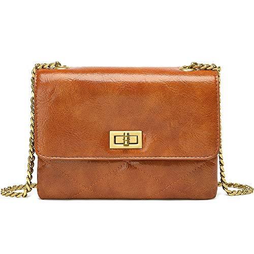 - Crossbody Bags for Women UTAKE Shoulder Purse Handbags with Functional Multi Pocket Brown