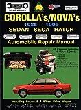 Corolla's/Nova's, 1985-1998, Max Ellery, 0646120808