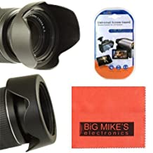 77mm Reversible Digital Tulip Flower Lens Hood For Nikon DF, D90, D3000, D3100, D3200, D3300, D5000, D5100, D5200, D5300, D5500, D7000, D7100, D300, D300s, D600, D610, D700, D750, D800, D810, D810A Digital SLR Cameras Which Has Any Of These Nikon Lenses 20mm f/1.8G, 24mm f/1.4G, 24mm f/3.5D, 45mm f/2.8D, 85mm f/1.4, 85mm f/2.8D, 300mm f/4D, 300mm f/4E, 10-24mm, 12-24mm, 16-35mm, 17-55mm, 18-35mm, 18-300mm, 24-70mm, 24-120mm, 28-300mm, 70-200mm, 80-200mm, 80-400mm