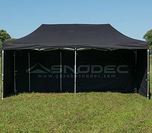 Cenador rápido 3 x 6 Negro de acero 30 mm + laterales. Impermeable 100% garantito: Amazon.es: Jardín