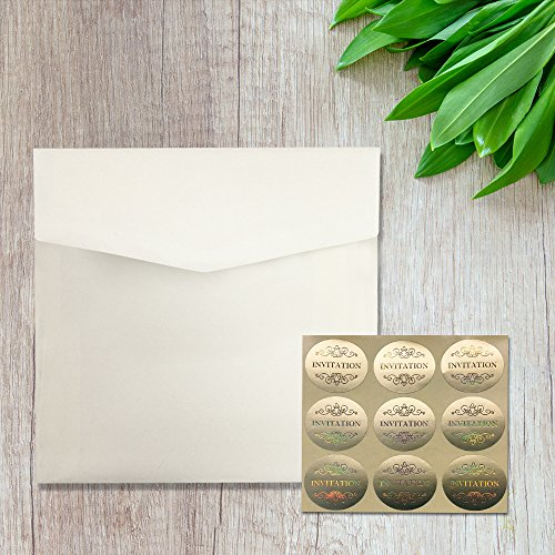 Picky Bride Gold Laser Cut Wedding Invitations Customized Invitation Cards with matching RSVP Cards and Return Envelopes - Set of 50 (Customized Invitations) by Picky Bride (Image #3)