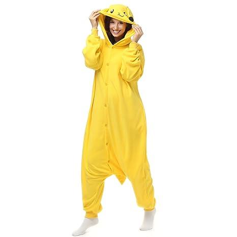 Adultos Pikachu Forro Polar Onesie Pijamas de Pijama de la ...