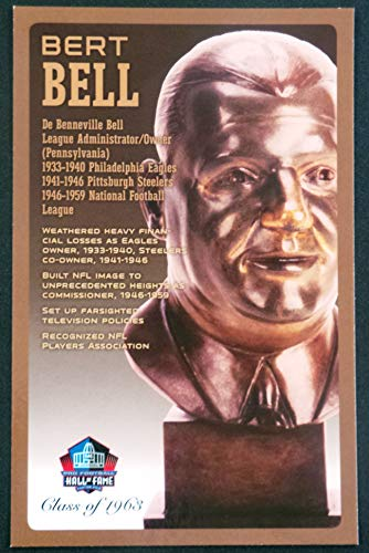 PRO FOOTBALL HALL OF FAME Bert Bell NFL Bronze Bust Set Card Postcard (Limited Edition #94 of 150)