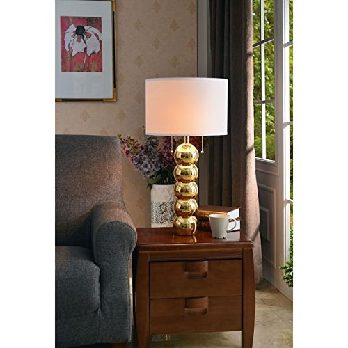 Catapiliar Table Lamp- Gold Stone Finish by Design Craft
