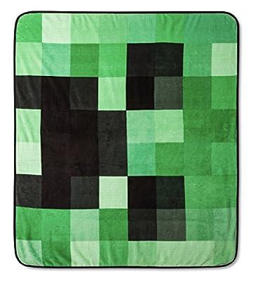 Minecraft Creeper Plush Throw Blanket - 53 in. x 53 in.
