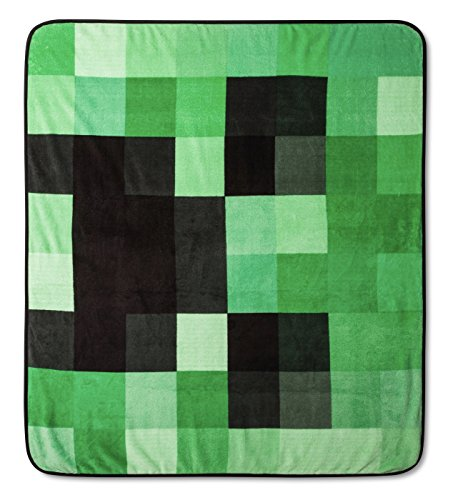 Minecraft Creeper Plush Throw Blanket - 53 in. x 53 in. -