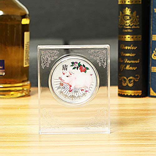 Silver Animal Coin Lunar - 2019 Silver Lunar Year of the Pig Coin Collection Proof Memorial Aniversary Gift Decorations