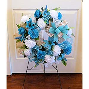 Summer Cemetery Wreath, Father's Day Cemetery Wreath, Summer Grave Wreath 4