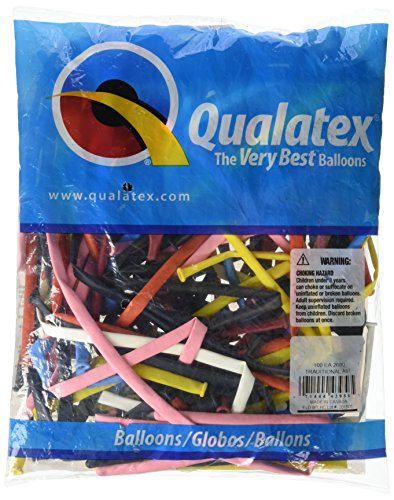 Qualatex 43956 Traditional Assortment Latex Balloons, 260Q, Multicolor, Pack of 100