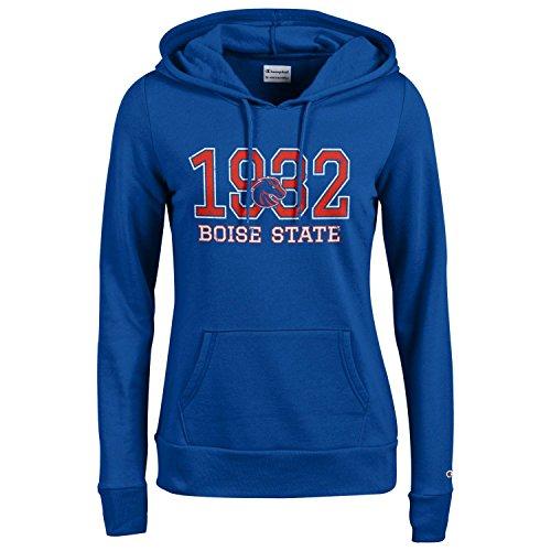 - Champion NCAA Women's Comfy Fitted University Fleece Hoodie Boise State Broncos, Medium, Blue