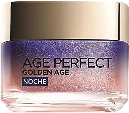 L'Oréal Paris Age Perfect Golden Age Crema de Noche Fortificante, Antiflacidez y Luminosidad, Pieles Maduras, 50 ml
