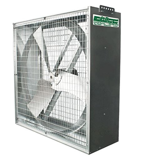 J&D Manufacturing VG36DM-22 Whirl-Wind Galvanized Box Fan, 36