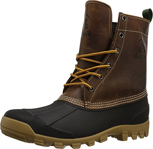 - Kamik Yukon 6 Men Round Toe Leather Brown Hunting Boot (11 D(M) US, Dark Brown)