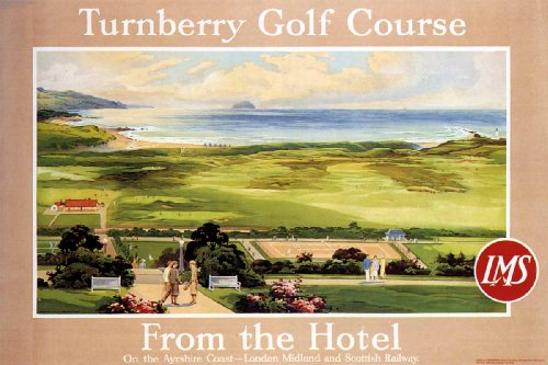 Turnberry Golf Course (Vintage Travel Poster Golf Turnberry Golf Course LMS Railway Lines 24x36)