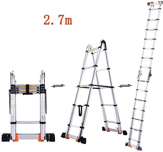 MLMHLMR Escalera Plegable casa Escalera multifunción ingeniería ...