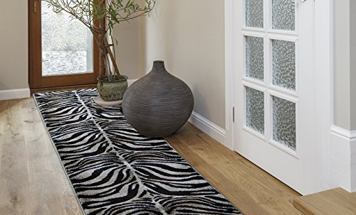 Home Dynamix Tribeca Fawn Area Rug | Modern Living Room Rug | Contemporary Zebra Design | Rich Living Room Colors | Black, Ivory 26