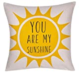 DECOPOW Your My Sunshine Throw Pillow Cover, Decorative Throw Pillow Case 18X18 Inches with Your My Sunshine Text