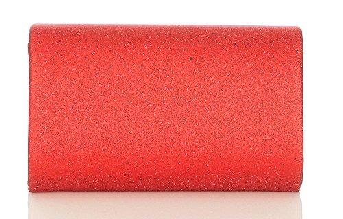 sera da donna frizione con da Malito T400 Glitter Borsa rosso Citybag 5OBHfnwx
