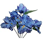 MM-TJ-Products-Artificial-Iris-Bush-5-stems-Pack-of-2-Lavender