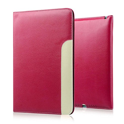 Price comparison product image iPad Air 2 Accessories,Sunfei Luxury Smart Sleep Wake UP Flip Leather Case Cover Holder Stand For iPad Air 2 (Hot Pink)
