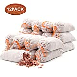 Coolrunner 12 Pack Cedar Sachet Bags, 100% Natural Red Cedar Chips Sachets for Closets, Drawers, Shoes, Clothes Storage Protector