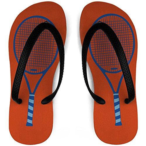 Tennis Flip Flops Tennis Raquette Orange