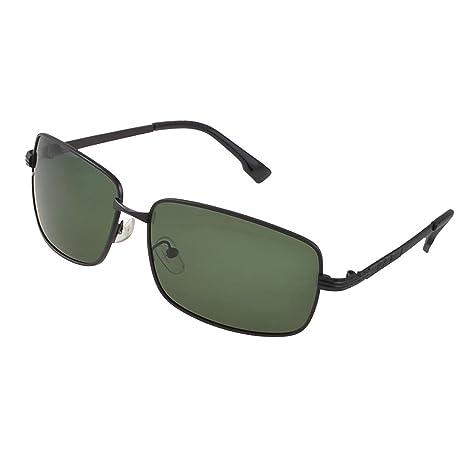Un solo puente de metal plástico Brazo lente verde gafas de ...