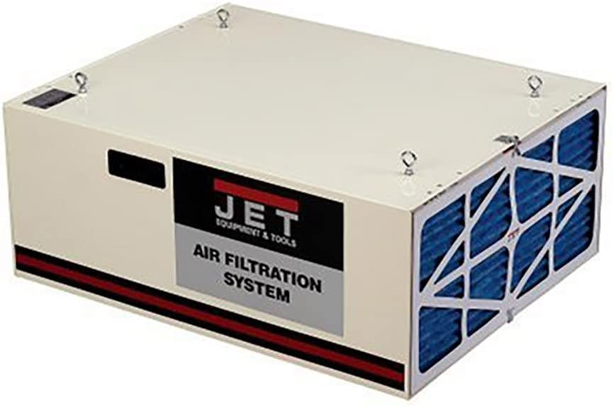 JET 708620B AFS-1000B 550/702/1044 CFM 3-Speed Air Filtration System with Remote and Electrostatic Pre-Filter - Shop Air Cleaners -