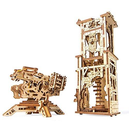 UGEARS Archballista-Tower Mechanical 3D Model, Wooden Brainteaser for Adults and Teens, Birthday Gift