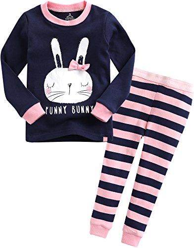 Vaenait baby 12M-7T 100% Cotton Kids Girls Rabbit Costume Sleepwear Pajama 2 Pieces Set Gifts