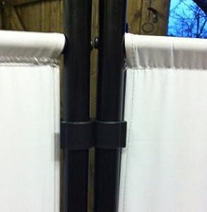 paravent 260x180cm trennwand sichtschutz blickdicht aus stoff top aber etwas teuer. Black Bedroom Furniture Sets. Home Design Ideas