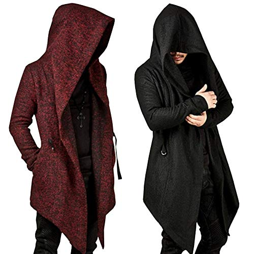 Original Design Autumn Winter Men's Long Sleeve Clothing Sweatshirt Hoodie Men Hooded Cardigan Loose Cloak Outerwear