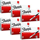 Sharpie 32701 Retractable Permanent Markers, Fine Point, Black, 72 Count (6 Boxes of 12 Markers each Box)