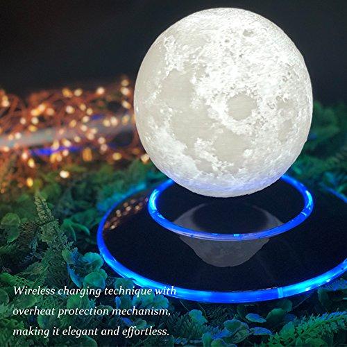 Maglev lights 12cm Magnetic 3D Levitation Moon Magnetic suspension Lamp Floating Night Light Romantic Birthday Festival Gift Home Decor