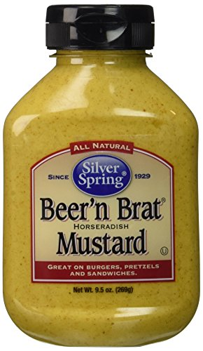 Silver Springs Beer & Brat Mustard 9.5 Oz (Pack of 4) (Chat Spring)