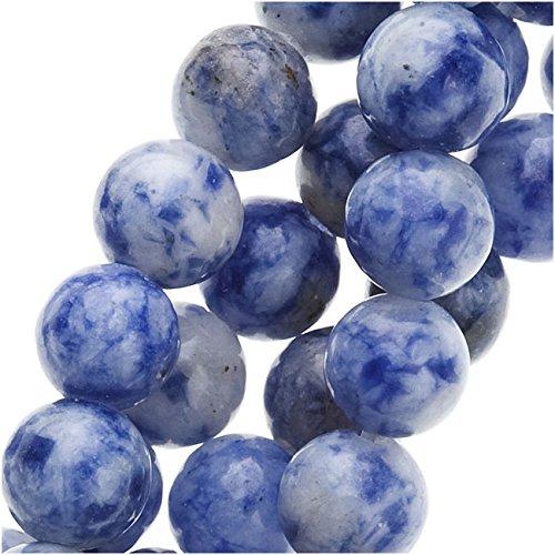 Denim Lapis Lazuli Round Beads 6mm / 15 Inch Strand Denim Beads