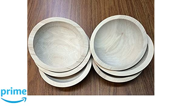 Amazoncom Set Of 6 6 Inch Unfinished Solid Beech Wood Bowls