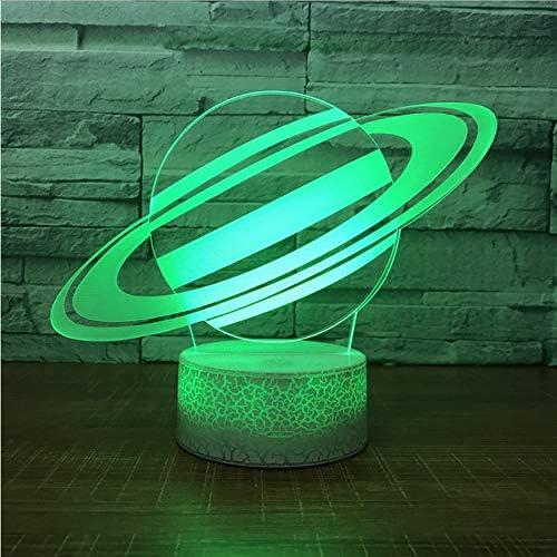 Universo Saturno Lámpara de Luz Nocturna 3D Sky Planet Lámpara Led ...