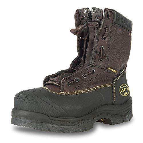 Oliver 65 Series 8'' Leather Chemical-Resistant Steel Toe Lace-In Zipper Men's Metatarsal Boots, Brown (65392) by Honeywell (Image #8)