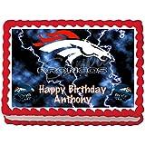 Denver Broncos Edible Frosting Sheet Cake Topper - 1/4 Sheet